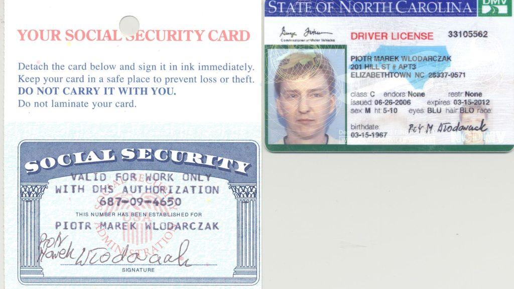 życie w Stanach Zjednoczonych, moje prawo jazdy i karta ubezpieczeniowa