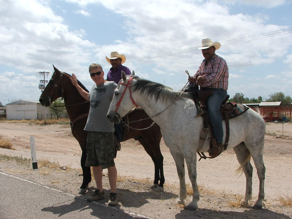 Podróż do Meksyku, napotkani kowboje