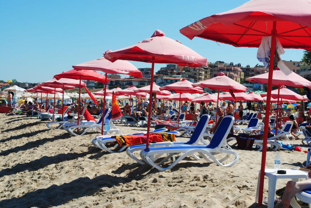 Podróż do Bułgarii, plaża