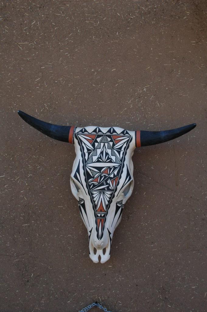 Amerykańska wołowina, czaszka Indian