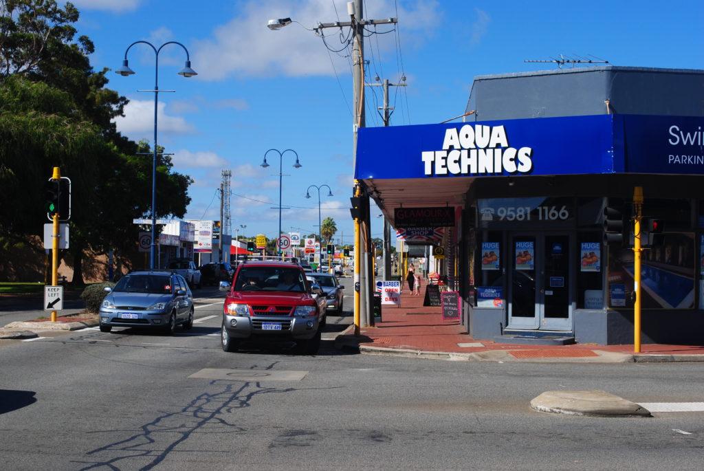 Podróż do Australii Zachodniej, Mandurah downtown