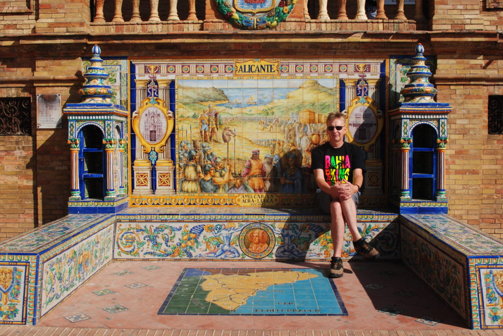 Podróż do Hiszpanii, ręcznie malowane kafle