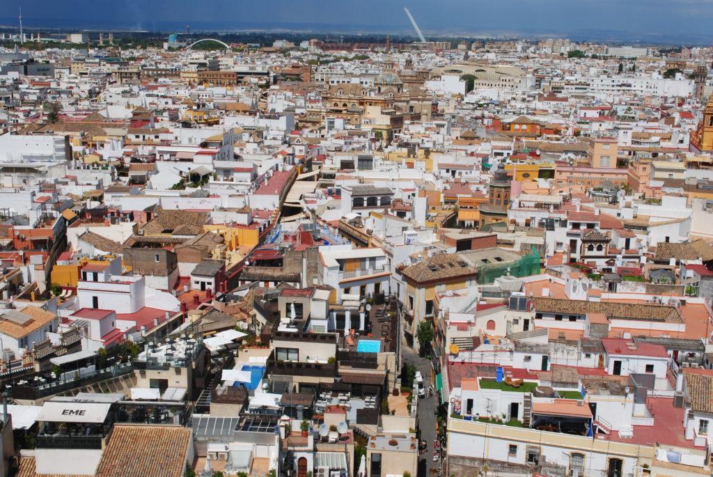 Podróż do Hiszpanii, widok z wieży widokowej