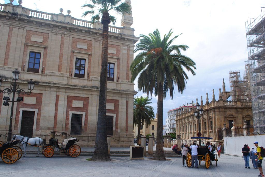 Podróż do Hiszpanii, rynek w Sewilli