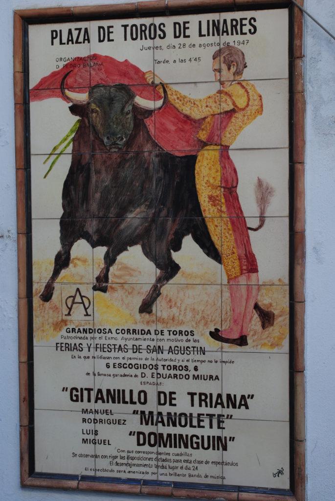 Gonitwa w Pampelunie, plakat corridy