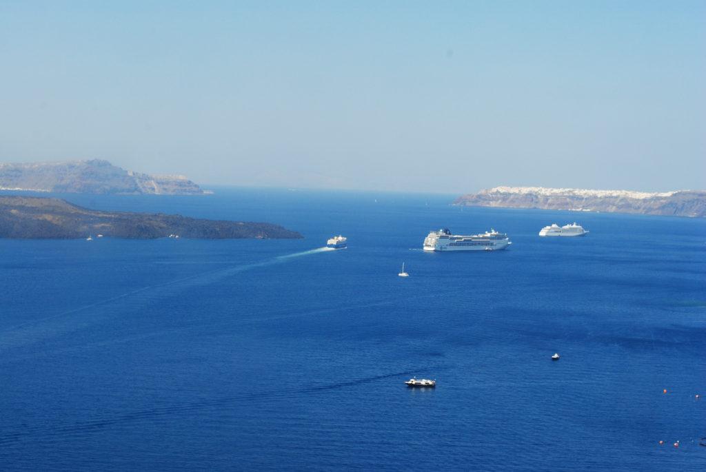 Wyspa Santorini, widok z góry