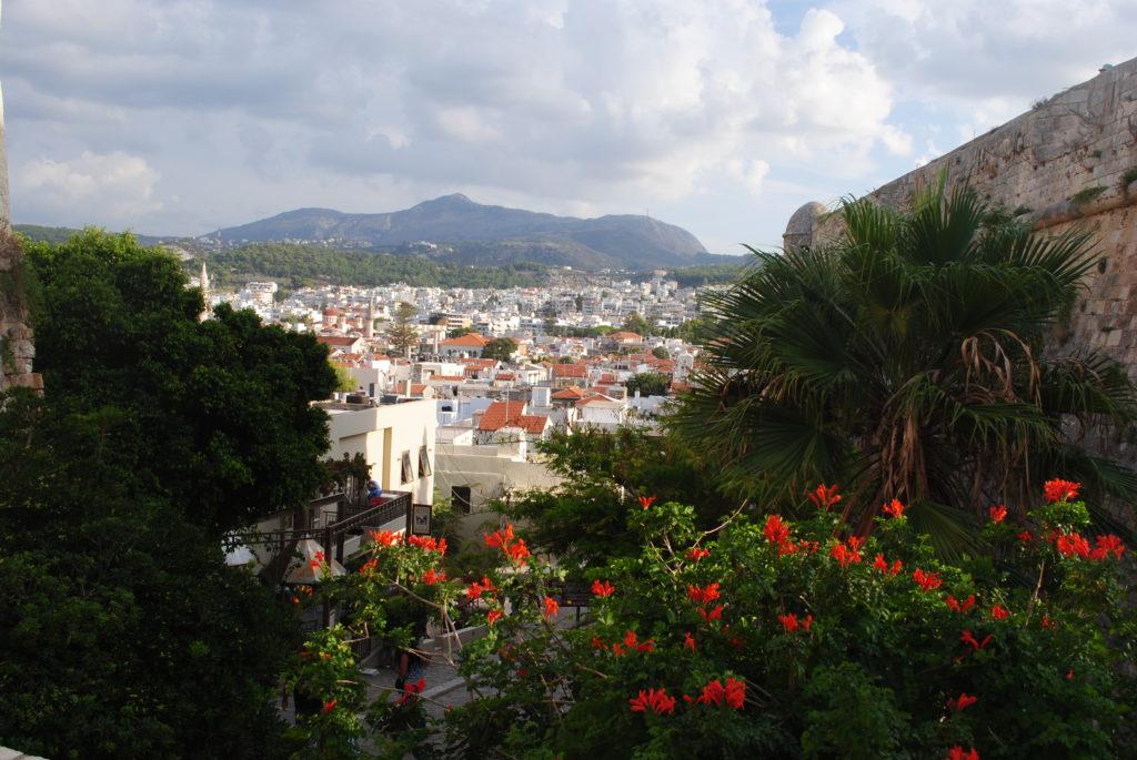 Przygoda w Grecji, widok Rethymonu
