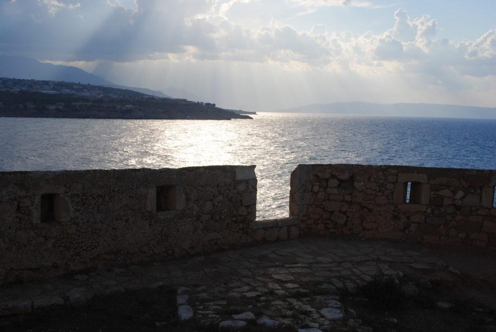 Przygoda w Grecji, widok na morze