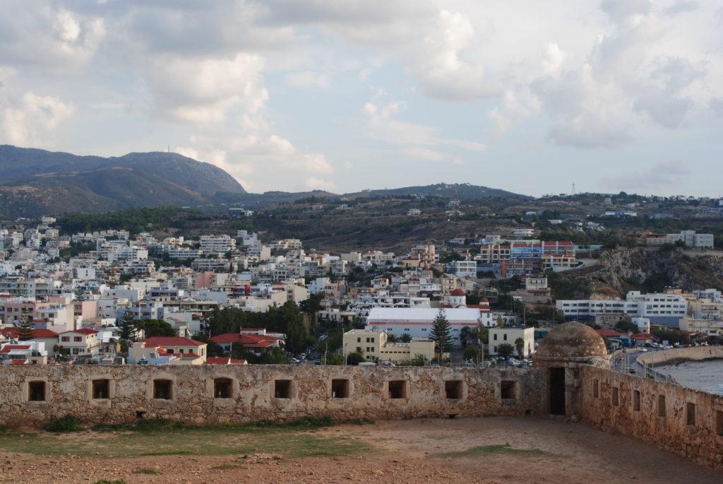 Przygoda w Grecji, twierdza i widok miasta