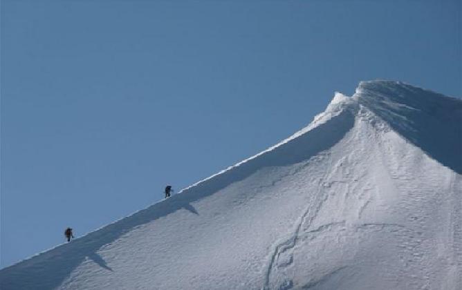 Wyprawa na Mont Blanc, uważaj na lodowiec