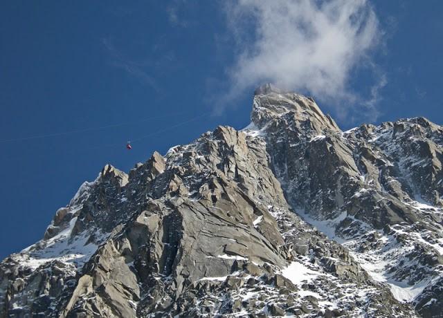 Wyprawa na Mont Blanc, kolejka...