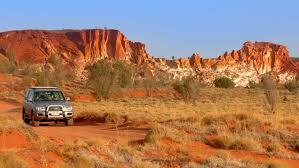 stepy australijskie, auto 4x4