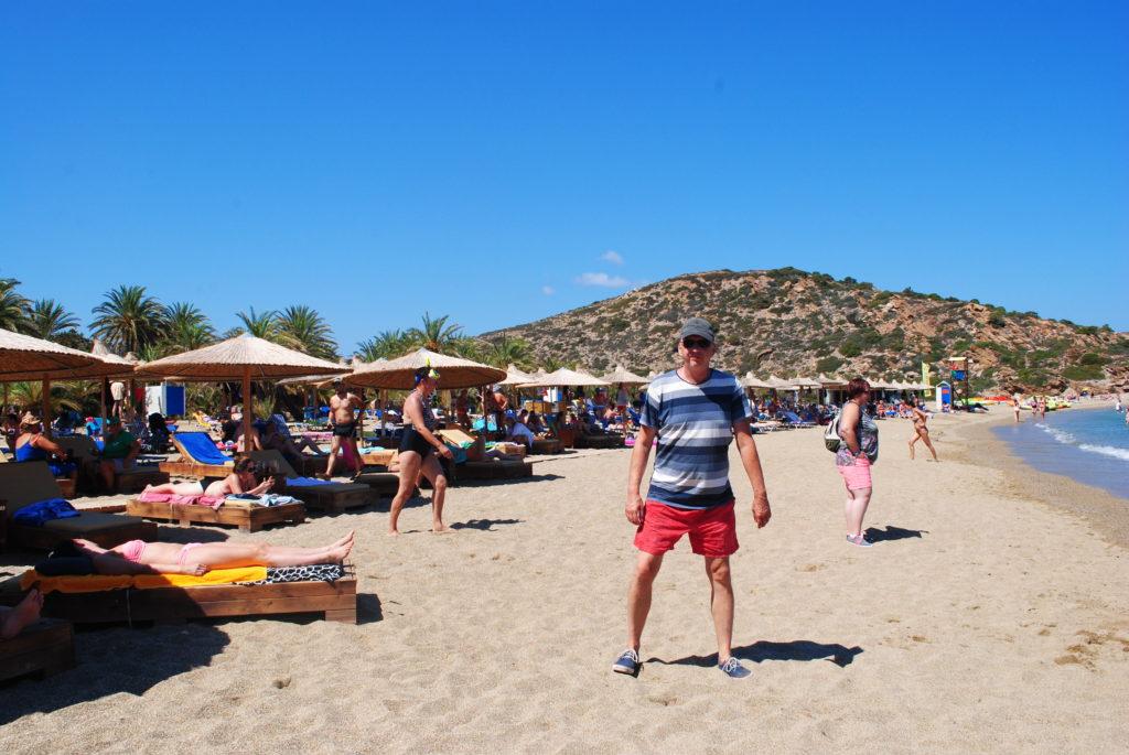 Kreta wschodnia, piaszczysta plaża w Wai