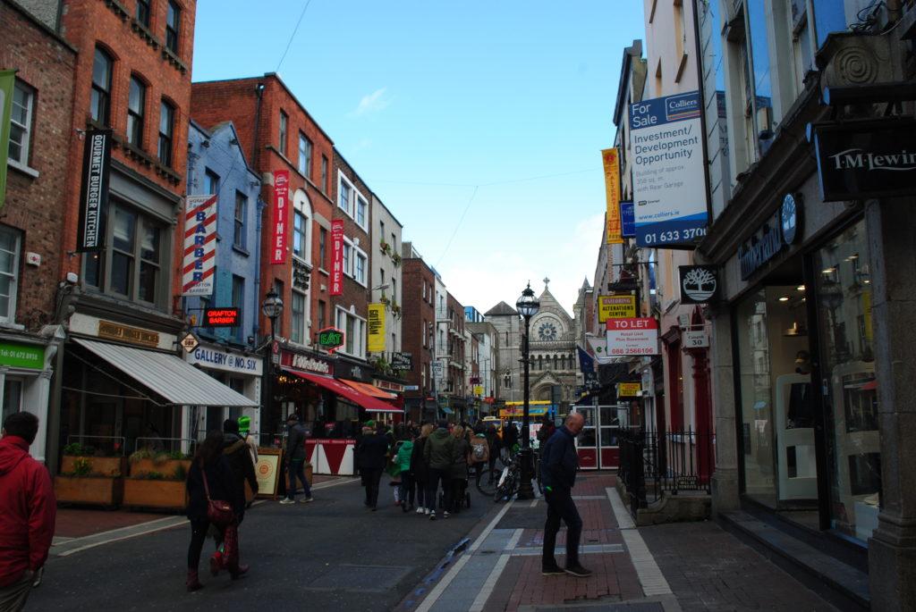 Podróż do Dublina, ulice miasta
