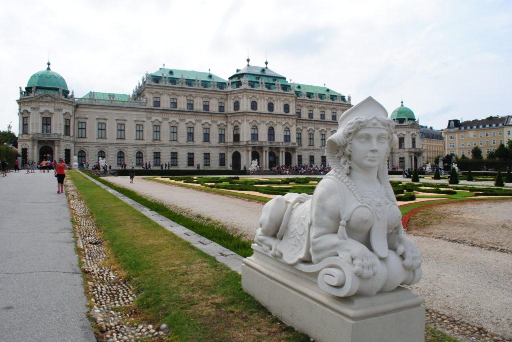 Zwiedzanie Wiednia. Ogród Belwederu.