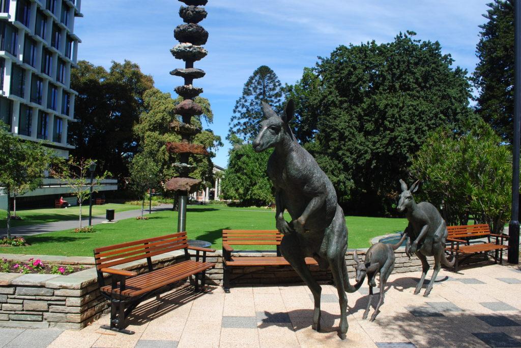 Perth, Australia Zachodnia. Pomnik kangurów w Perth.