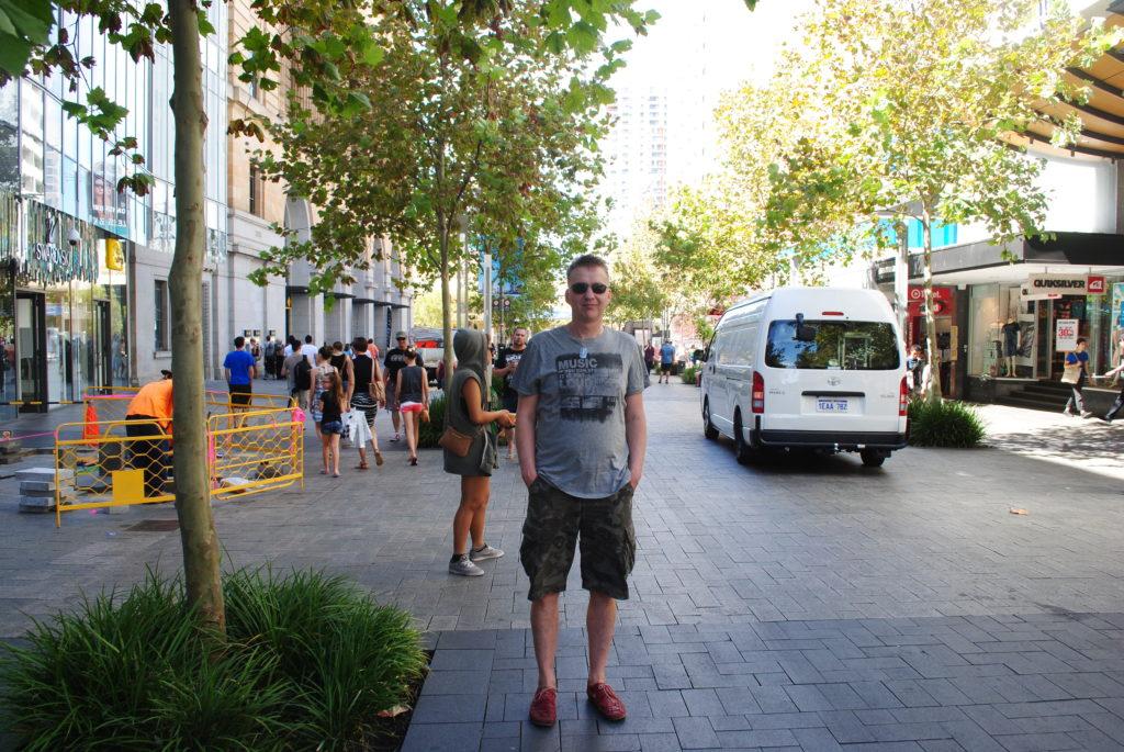 Perth, Australia Zachodnia. Bosik w Perth.