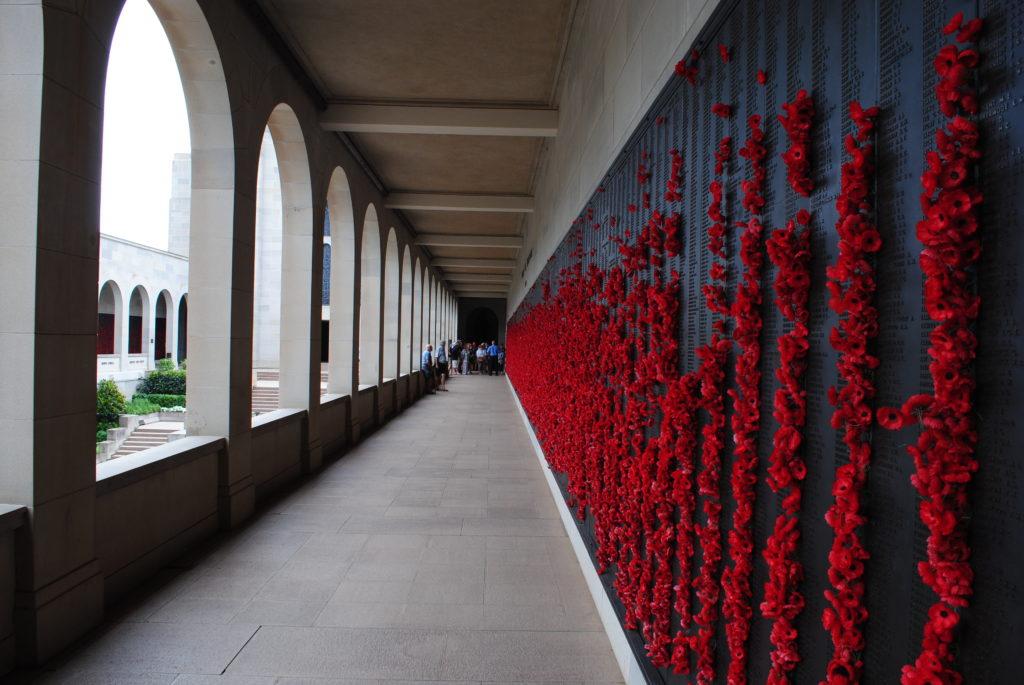 Canberra stolica Australii, ściana płaczu w War Memorial