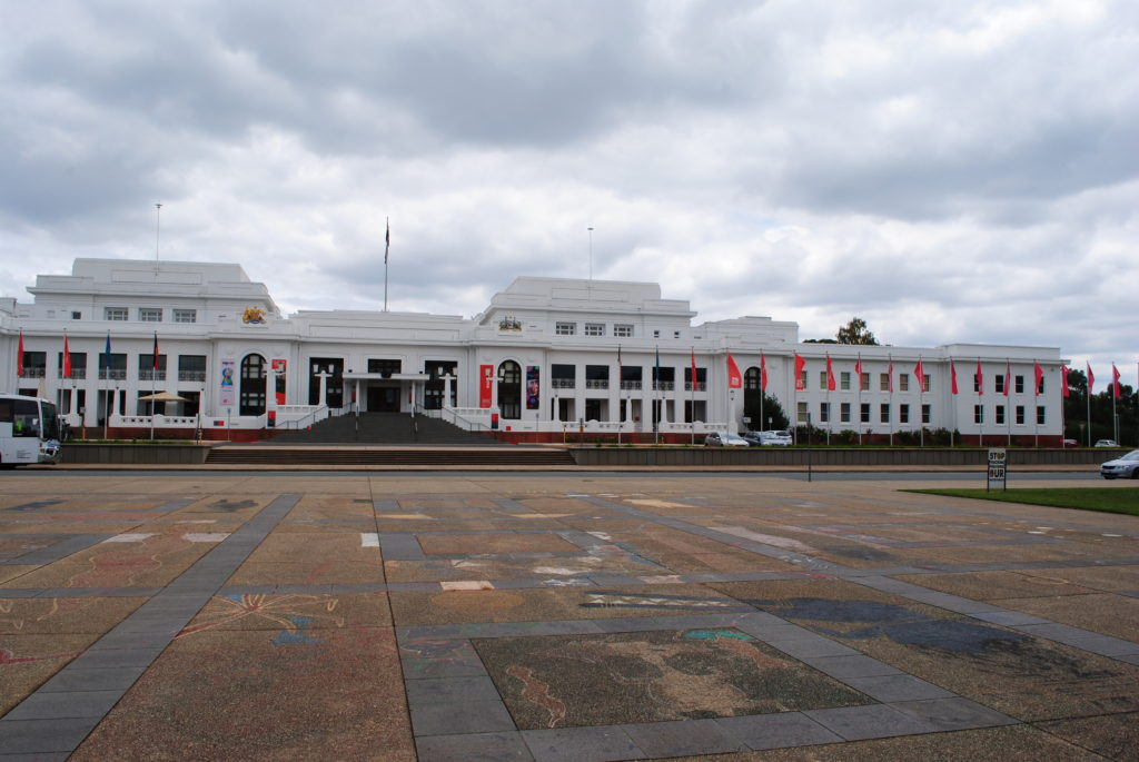 Canberra stolica Australii, stary parlament