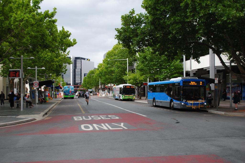 Canberra stolica Australii, ulice miasta