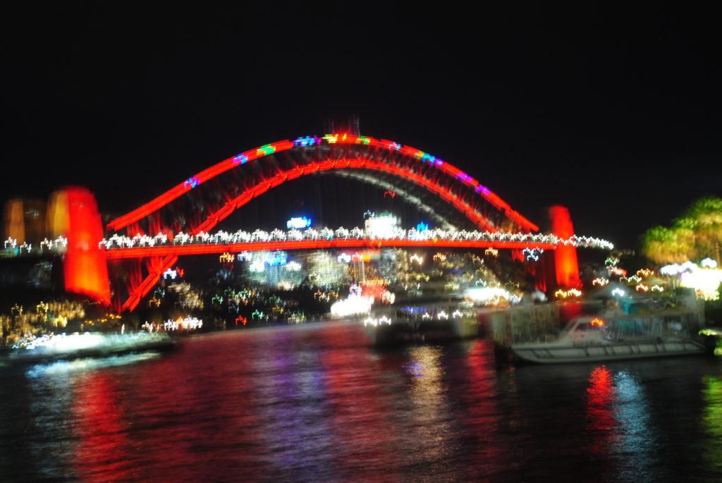 Canberra stolica Australii, Sydney i The Bridge nocą