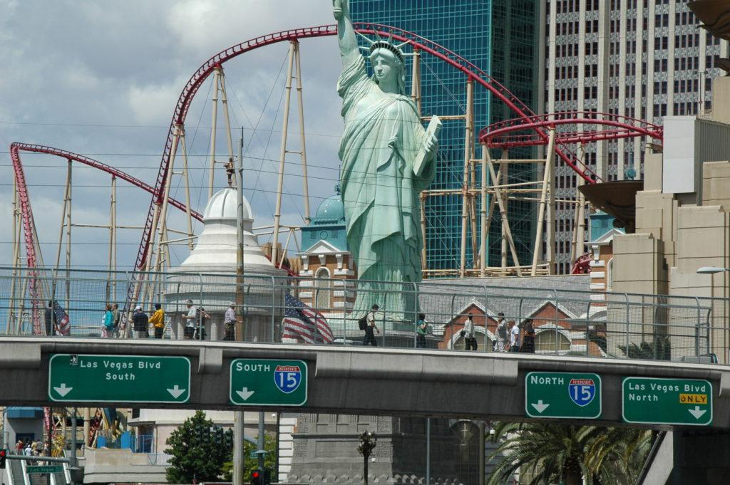 Przygoda w Las Vegas. Replika statui Wolności.