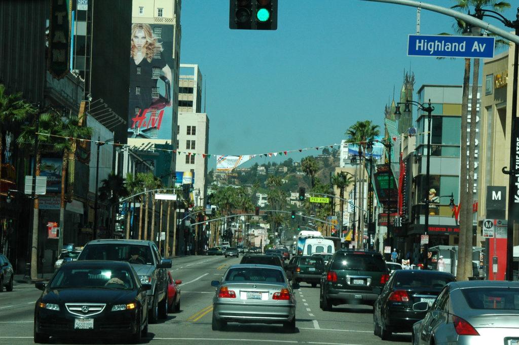 Podróż do Los Angeles. Wjazd do miasta.
