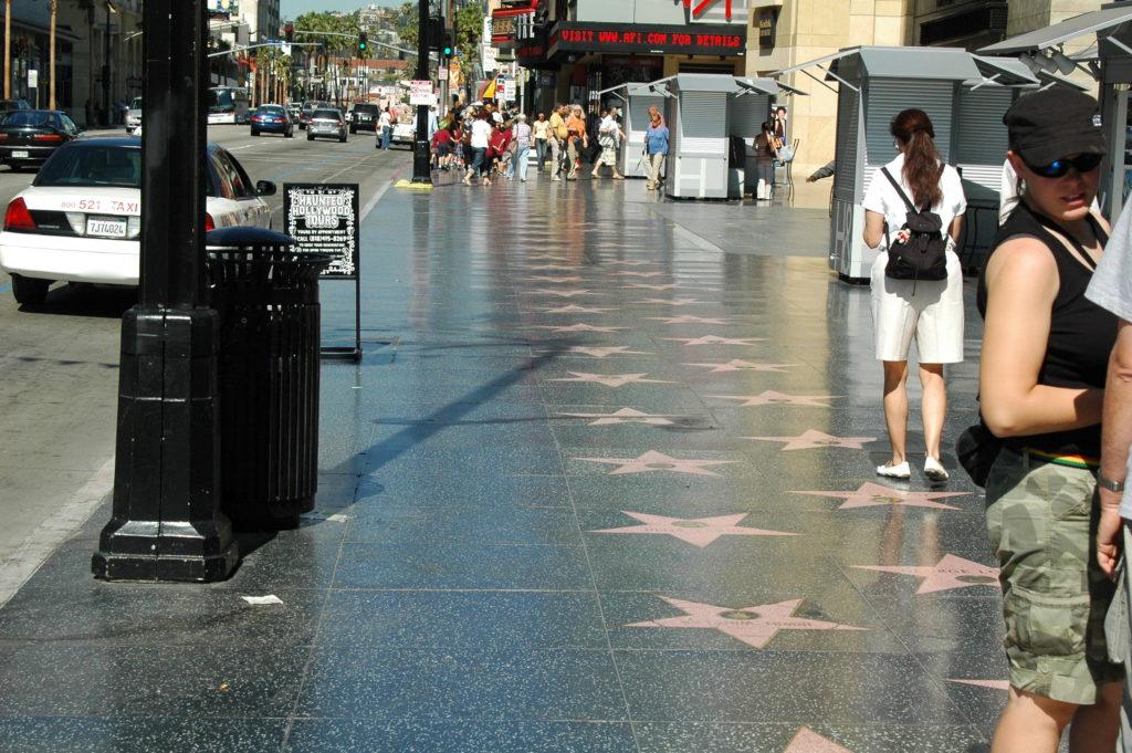Podróż do Los Angeles. Aleja Gwiazd w Hollywood.