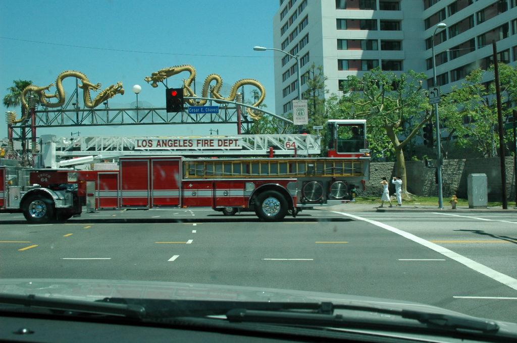 Podróż do Los Angeles. Wóz strażacki.
