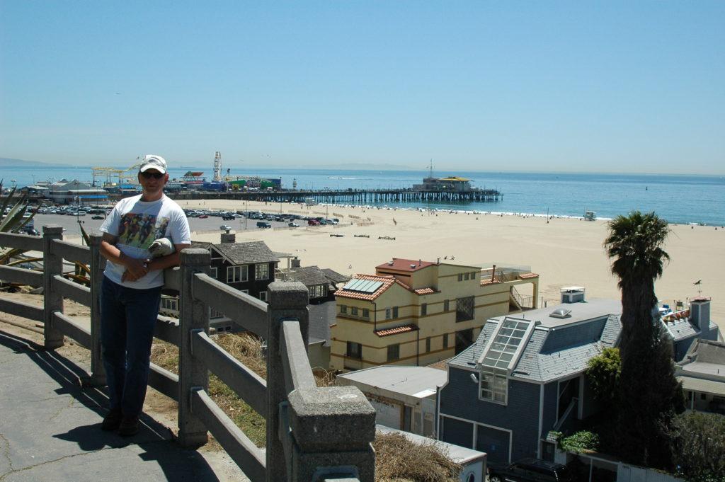 Podróż do Los Angeles. Widok na plażę.
