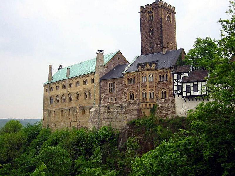 Niemcy Wschodnie. Zamek Wartburg.