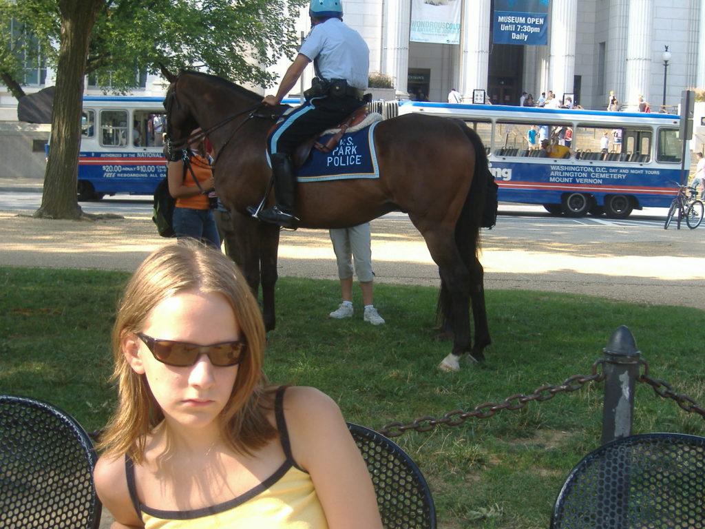 Atrakcje Waszyngtonu. Policja konna.
