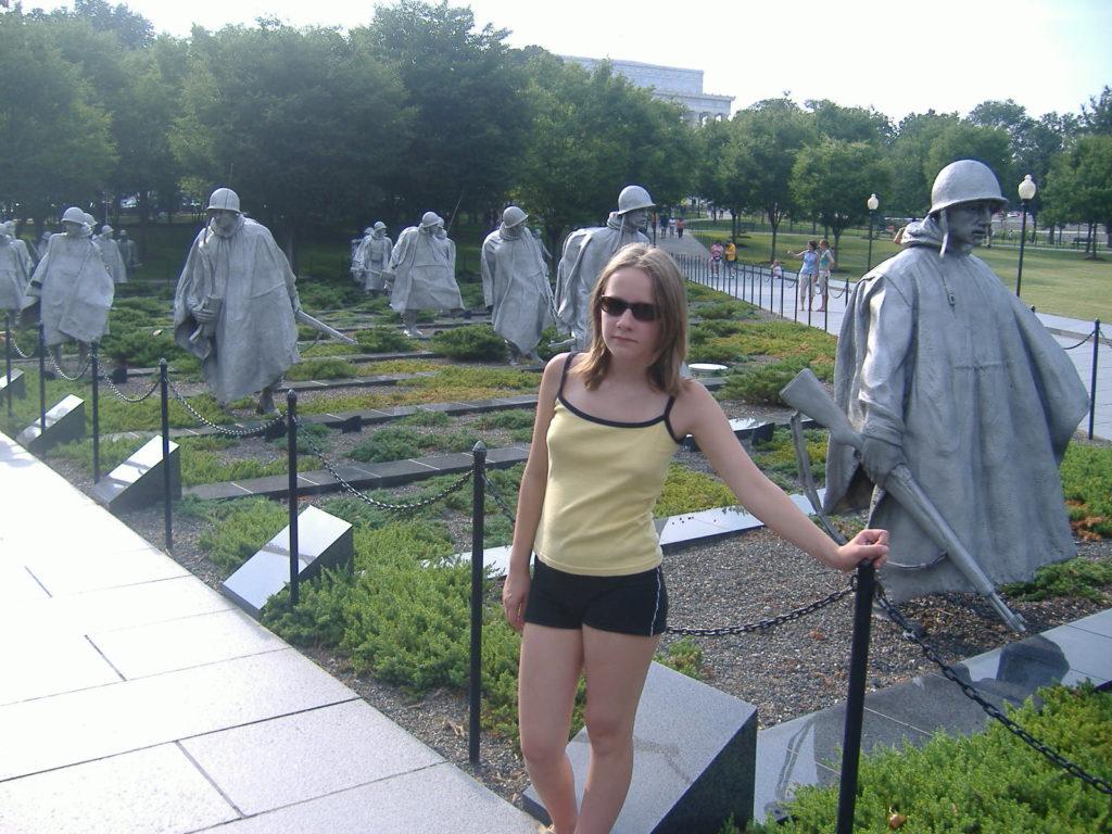 Atrakcje Waszyngtonu. Pomnik ku czci wojny w Korei.