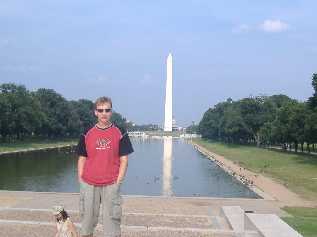 Atrakcje Waszyngtonu. Pomnik Lincolna i ja.