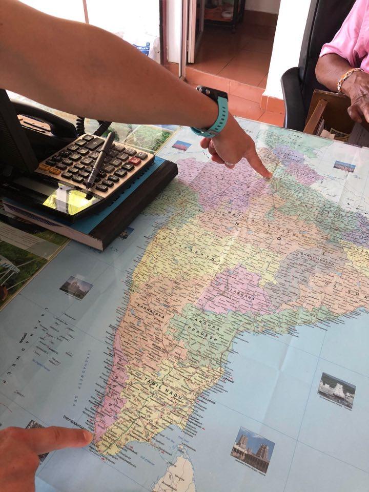 Podróż do Indii. Lecimy z północy na południe.