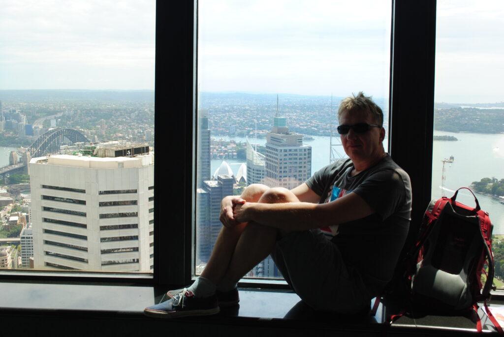 Podróż do Sydney. Na tarasie widokowym.