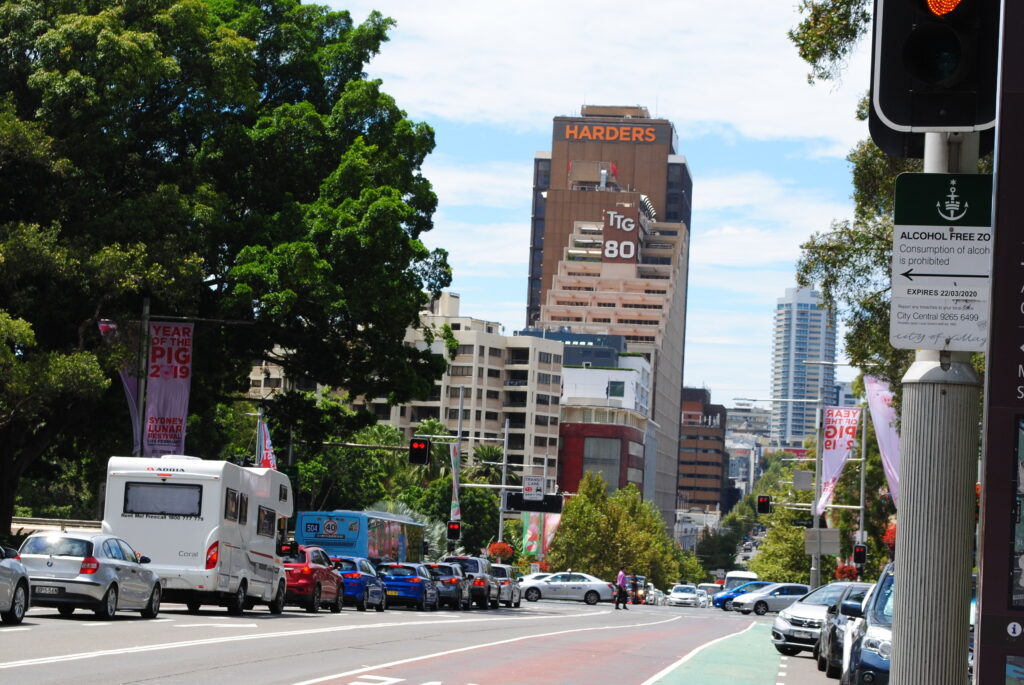 Podróż do Sydney. Ulice miasta.
