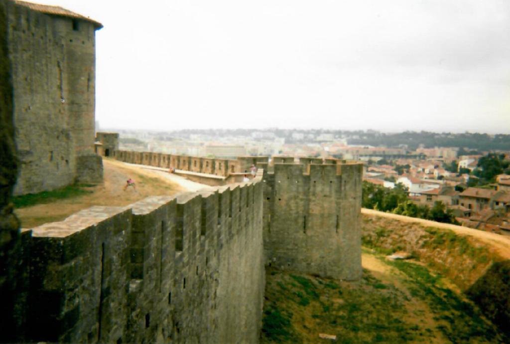 Podróż do Francji. Mury zamku.