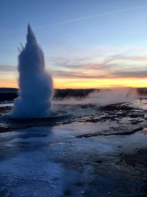 Wyspa Islandia. Gejzer.