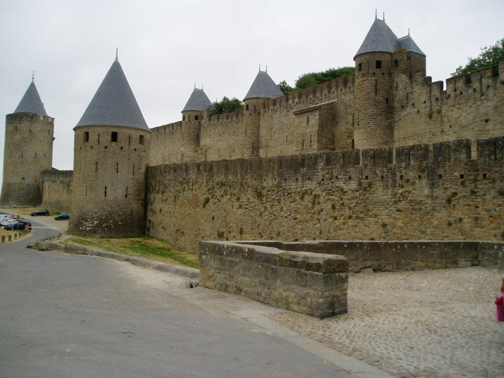 Podróż do Francji. Zamek w Carcassone.