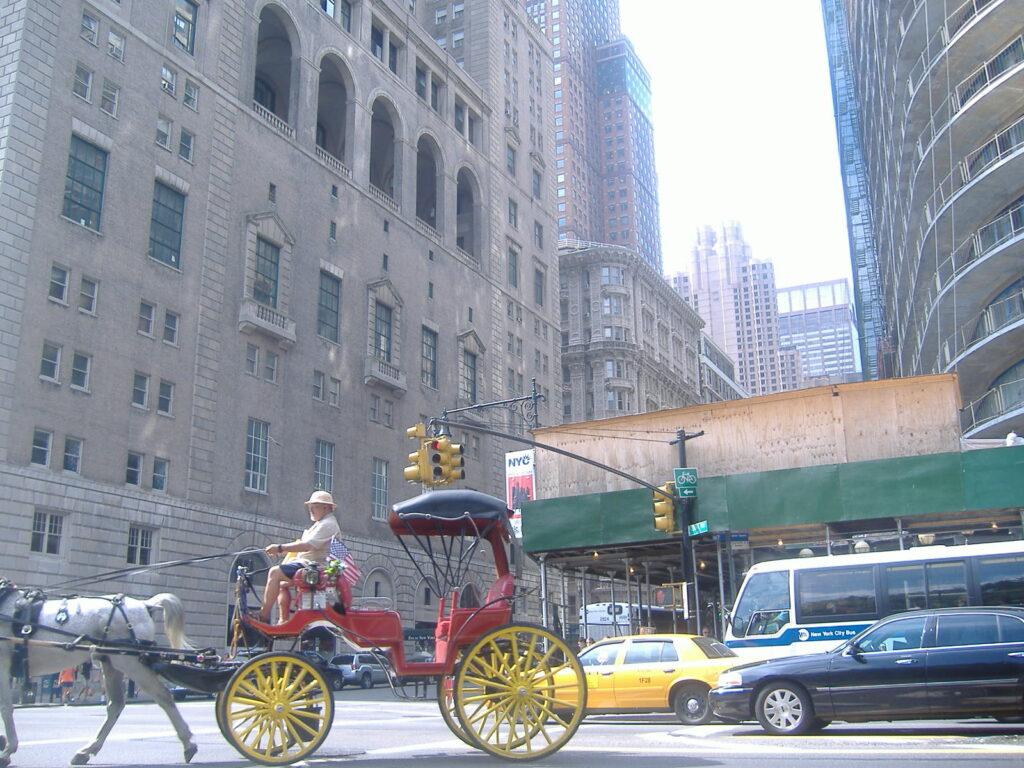 Nowy Jork w USA. Ulice metropolii.
