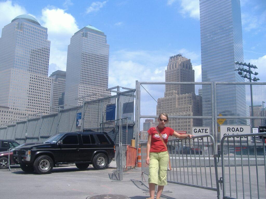 Nowy Jork w USA. Zburzone WTC.