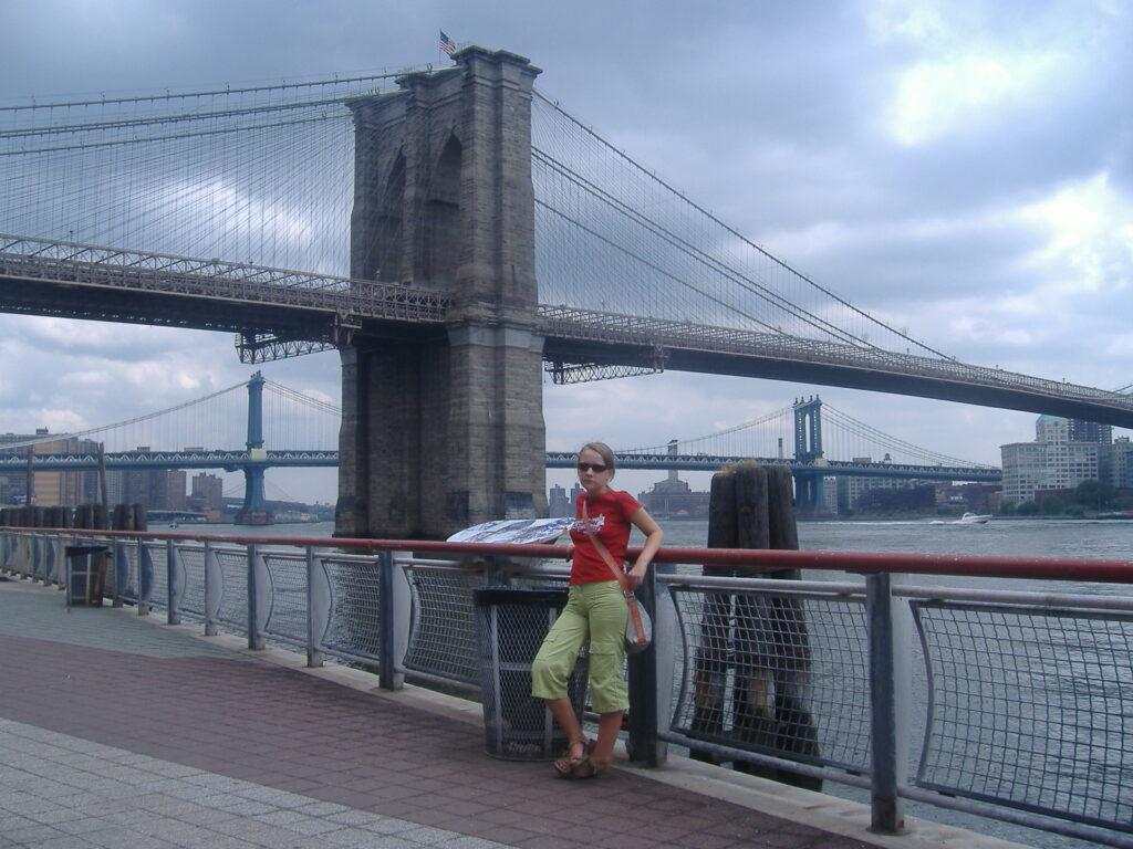 Nowy Jork w USA. Most Brookliński.