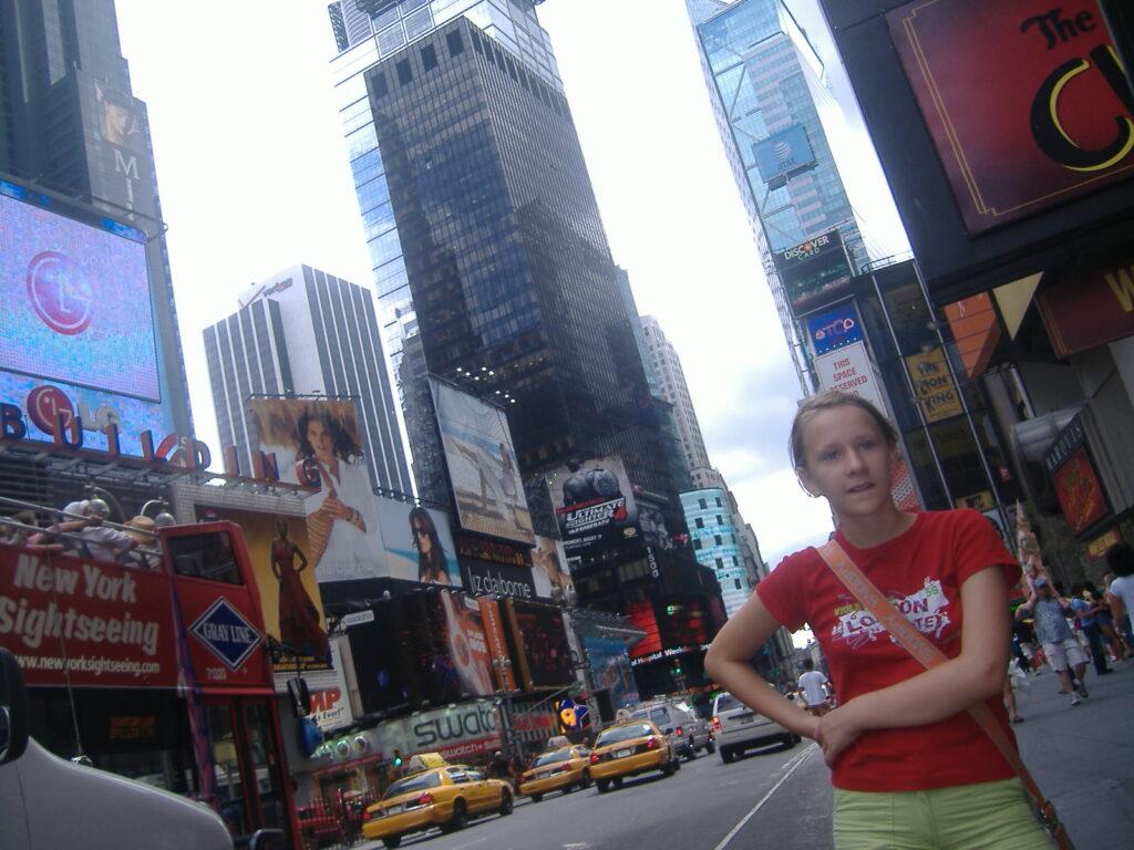 Nowy Jork w USA. Times Square.