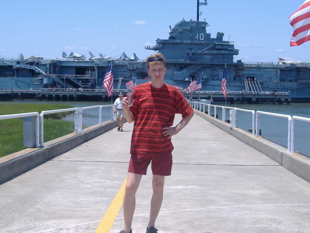 Lotniskowiec Yorktown w Karolinie Południowej